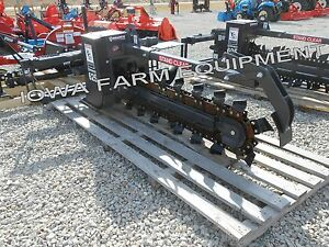 Bradco 625 Skidsteer Trencher 48 x6 teschain Select State Free Shp g see Det s