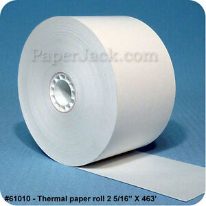 61010 Thermal Paper Rolls 2 5 16 X 463 Case Of 27 Rolls