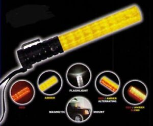 Job Work Car Construction Highway Hand Emergency Led Baton Light Wand Red Amber