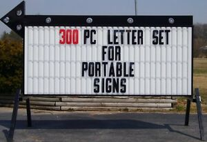 8 Outdoor Portable Marquee Readerboard Sign Letters