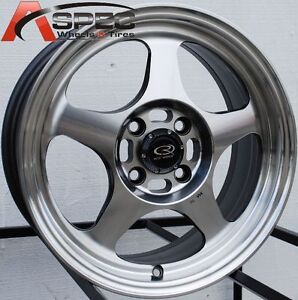 15x6 5 Rota Slipstream Rim 4x100 Polish Wheels Fits 4 Lug Civic Crx Fit Integra