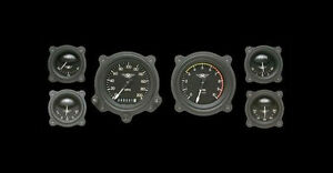 Moal Bomber Series 6 Gauge Set With Bomber Bezels Classic Instruments Ma01blfbz