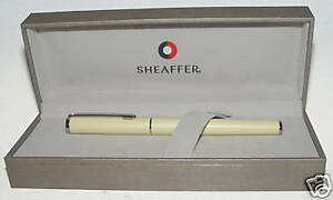Sheaffer White Dot Agio Rollerball Pen Tranquil Yellow 9098 1