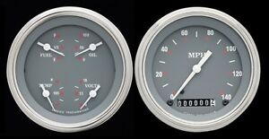 Sg Series 2 Gauge Set 3 3 8 Speedometer Quad 140 Mph Classic Instruments