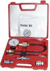Gasoline Compression Check Tester Set Auto Engine Motor Dial Gauge 0 300 Psi