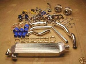 For Ford Mustang 1000 Horsepower Twin Turbo Kit 5 0l 5 0 Intercooled V8 302ci