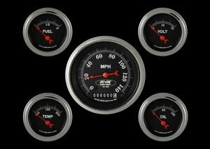 So cal Speed Shop Series 5 Gauge Set 3 3 8 Electronic Speedometer Hot Rod