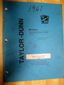 Taylor Dunn Mb 248 06 Mb24806 Manual