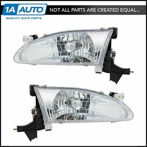Headlights Headlamps Left Right Pair Set New For 98 00 Toyota Corolla