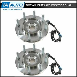Ac Delco Front Wheel Hubs Bearings Pair Set For Chevy Gmc Pickup Truck 2wd Rwd
