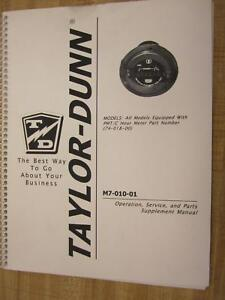 Taylor Dunn M7 010 01 M701001 Supplement Manual