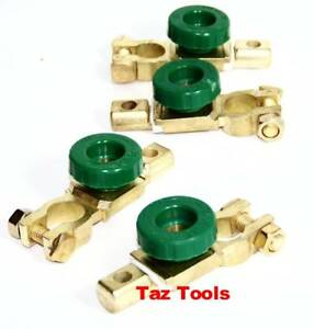 4pc Universal Battery Terminal Disconnect Kill Cut Switch Link Top Post Terminal