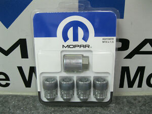 Chrysler 300 Challenger Charger Magnum Locking Lug Nuts Wheel Locks Mopar Oem