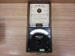 General Electric 3536251 Antique A c Amp Meter Vintage Industrial