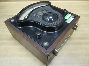 General Electric 544937 Vintage Industrial Ac Volt Meter Cracked Glass