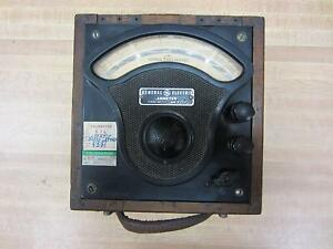General Electric 3675327 Antique Amp Meter Vintage Industrial 39053