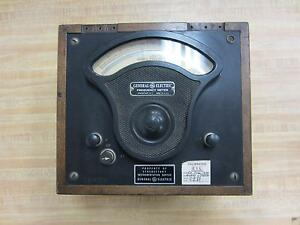 General Electric 3281693 Antique Frequency Meter Vintage Industrial