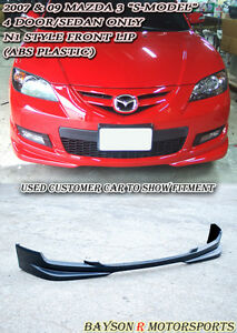 N1 Style Front Lip Abs Fits 07 09 Mazda 3 4dr S Model