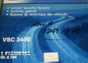 12496383 Vehicle Security System For Gm Cars Trucks Vsc 3400