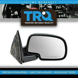 Gloss Black Manual Mirror Rh Right Passenger For Yukon Silverado Pickup Truck