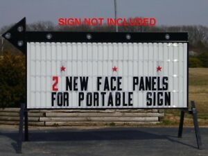New 40 X 8 Changeable Flexible Letter Outdoor Marquee Readerboard Sign Faces