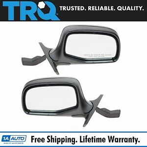 Manual Side View Mirrors Chrome Black Left Right Pair Set For F series Truck