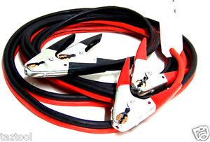 20 Ft 2 Gauge Booster Cables Jumping Cable Battery Engine Jump Start Heavy Duty