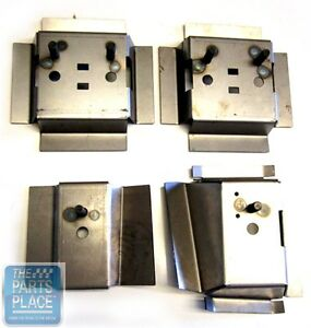 1978 88 Gm G Body Oem Bucket Seat Or Bench Seat Mounting Brackets 4 Piece Set