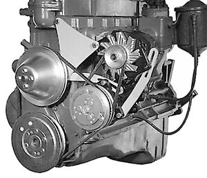 Alan Grove Chevy 235 6 Cylinder Ac Air Comp Alternator Mounting Bracket 301l