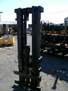 4775m1028 Clark Forklift Triple Mast Upright 187 Lift New Complete W Carriage