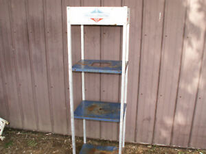 Vintage Briggs Gas Engine Dealer Display Rack Shelf