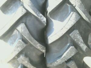 Two 12 4x24 Ford John Deere R 1 8 Ply Tube Type Tractor Tires