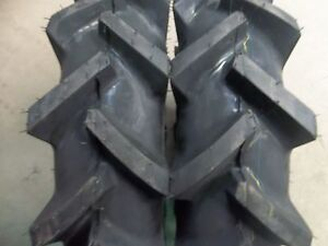 Two 6x14 6 14 Bar Lug R 1 4 Ply Tube Type Tractor Demolition Tires