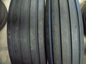 Two 7 50 16 750x16 750 16 7 50x16 Rib Implement Disc wagon Tractor Tires W tubes