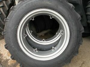 Two 13 6x28 13 6 28 Ford Tractor 8 Ply Tractor Tires With 6 Loop Wheels