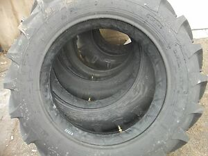 Two 11 2x28 11 2 28 8 Ply R 1 Bar Lug Deutz allis 6080 Tractor Tires With Tubes