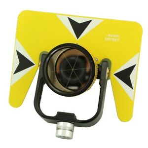Yellow Color Single Prism With Bag For Total Station 5 8x11 Thread