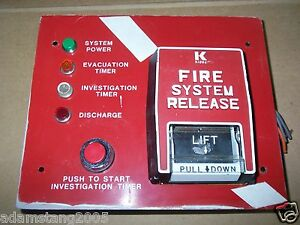 Fire Alarm Kidde Fenwal Pull Station Lift And Pull On Plate W push Buttons