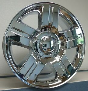 22x9 Chevy Gm 1500 Silverado Chrome Wheels Rims Set Texas Special