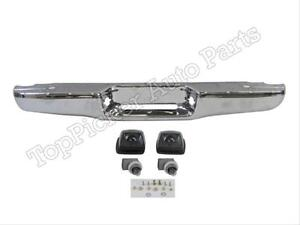 For 95 04 Tacoma Standard Bed Type Rear Step Bumper Bar Chrome License Light 2p