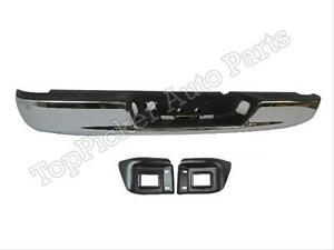 For 2002 2008 Dodge Ram 1500 03 09 2500 3500 Rear Bumper Chr Pad Out Bracket 4pc