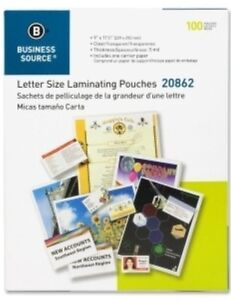300 Letter Laminating Pouches 9 X 11 5 Laminator 5 Mil Bsn 20862