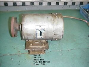 1 2 Hp Howell Electrical Motor stock 15