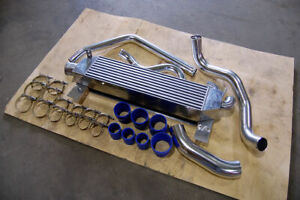 79 93 Ford Mustang Aluminum Intercooler Piping Kit Twin Turbo 100 Bolt On 5 0