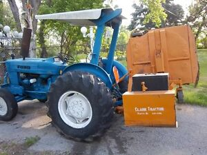Ford 515 Tractor With Woods Rear Ditch Mower Diesel all Hdy Drive And Angle