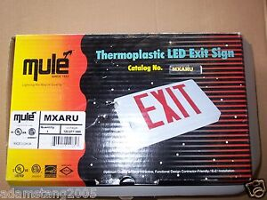 New Mule Mxaru 120 277vac Thermoplastic Led Exit Sign