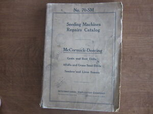 Mccormick Deering Seeding Machines Parts Manual Grain Drills Sedders Grass Sower