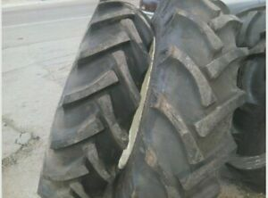 Two 12 4x36 12 4 36 M Farmall 8 Ply Tractor Tires With Tubes