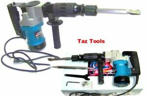 Electric Demolition Hammer Drill H d 1 1 2 With Punch And Chisel Rotary Drill
