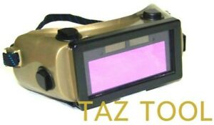 Auto Darkening Cutting Welding Goggles Solar Powered Li ion Rechargeable Battery